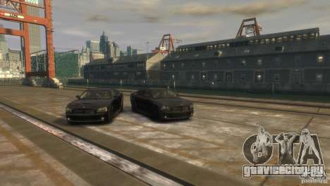 Dodge Charger Fast Five для GTA 4 вид справа