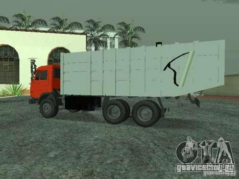 КамАЗ 53215 Мусоровоз для GTA San Andreas вид слева
