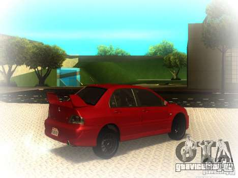Mitsubishi Lancer Evolution IX MR 2006 для GTA San Andreas вид справа