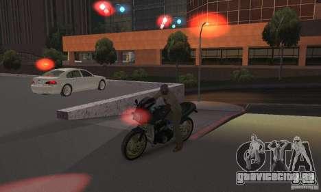 Красный цвет фар для GTA San Andreas четвёртый скриншот