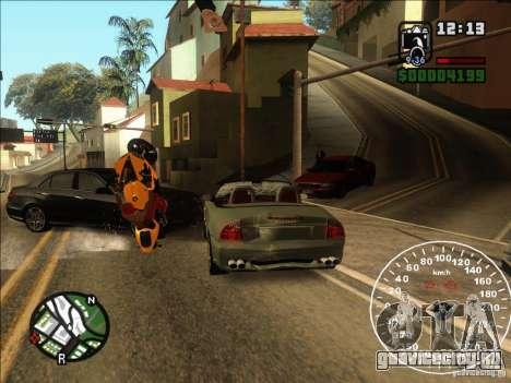 Spyder Cambriocorsa для GTA San Andreas вид изнутри
