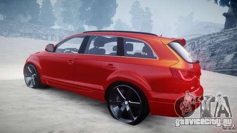 Audi Q7 LED Edit 2009 для GTA 4 вид сбоку