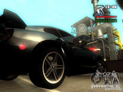 BMW Z4 M 07 для GTA San Andreas вид справа