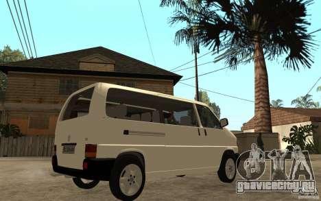 Volkswagen Transporter T4 для GTA San Andreas вид справа