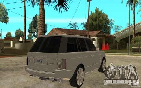 Land Rover Range Rover Supercharged 2009 для GTA San Andreas вид справа