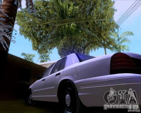 Ford Crown Victoria 2009 Detective для GTA San Andreas вид сбоку