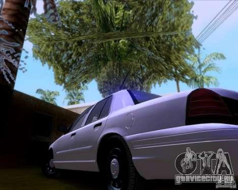 Ford Crown Victoria 2009 Detective для GTA San Andreas вид сбоку