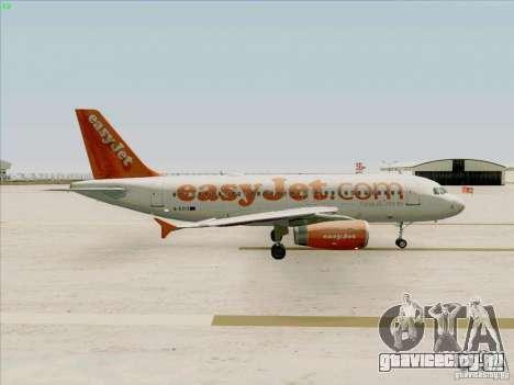Airbus A319 Easyjet для GTA San Andreas вид сзади
