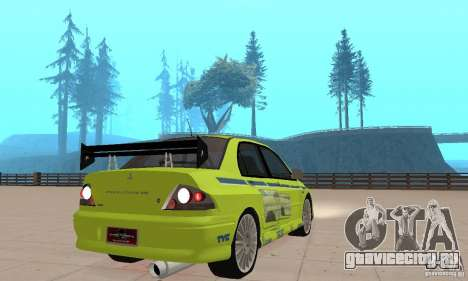 Mitsubishi Lancer Evo The Fast and the Furious 2 для GTA San Andreas вид слева