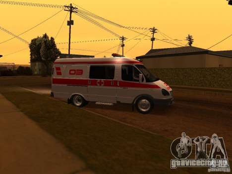 ГАЗель Скорая помощь для GTA San Andreas вид слева