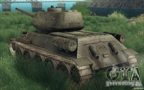Т-34-85 из игры COD World at War для GTA San Andreas вид изнутри