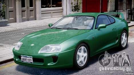 Toyota Supra MKIV 1995 v2.0 Final для GTA 4 вид сбоку