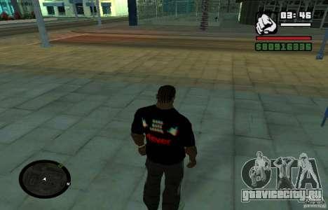Футболка Хард Басс. для GTA San Andreas второй скриншот