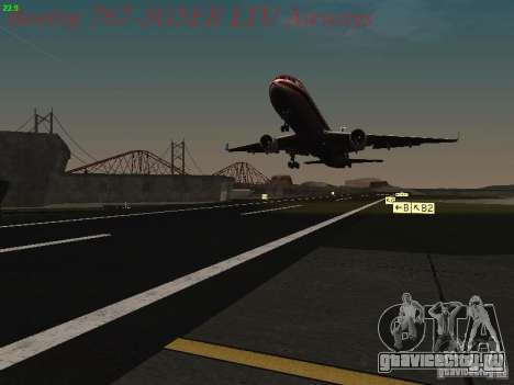 Boeing 767-3G5ER LTU Airways для GTA San Andreas вид снизу