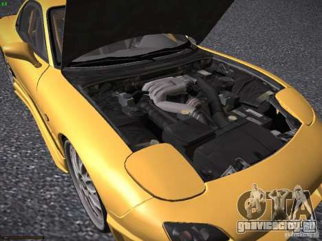 Mazda RX-7 FD3S C-West Custom для GTA San Andreas вид изнутри