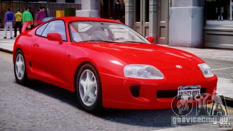 Toyota Supra MKIV 1995 v2.0 Final для GTA 4 вид слева