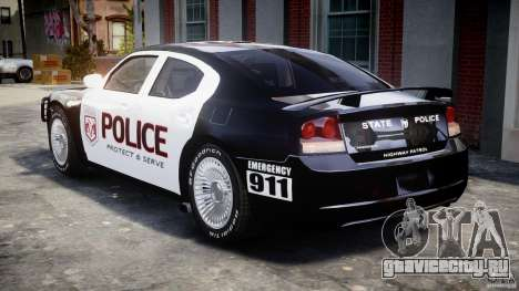 Dodge Charger SRT8 Police Cruiser для GTA 4 вид справа