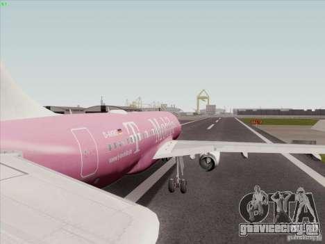 Airbus A319 Spirit of T-Mobile для GTA San Andreas вид справа