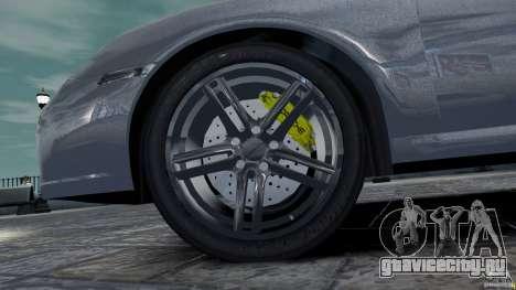 Porsche Targa 4S 2009 для GTA 4 вид изнутри