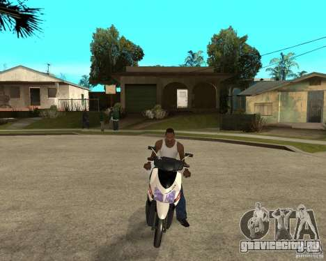 Honda Click для GTA San Andreas вид сзади