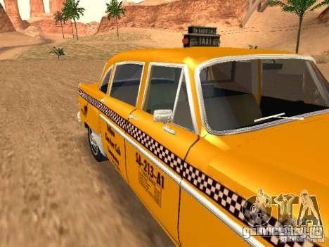 Checker Marathon Yellow CAB для GTA San Andreas вид справа