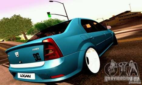 Dacia Logan 2008 для GTA San Andreas вид снизу