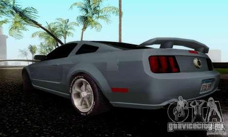 Ford Mustang GT для GTA San Andreas вид сзади слева