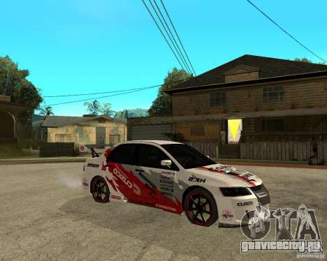 Lancer Evolution VIII япошка для GTA San Andreas вид справа