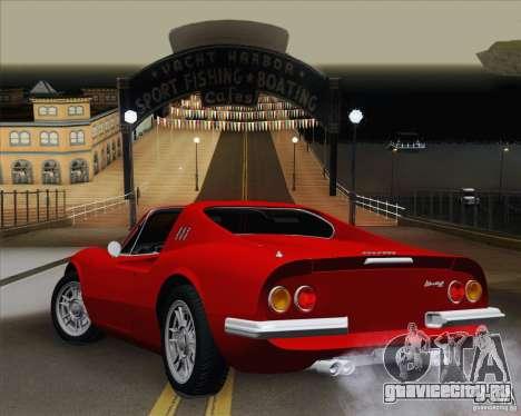 Ferrari 246 Dino GTS для GTA San Andreas вид слева