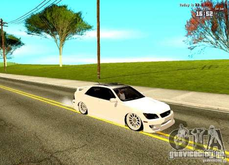 Toyota Altezza для GTA San Andreas вид слева