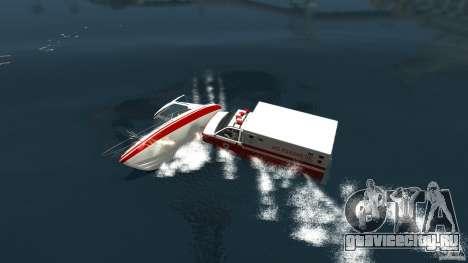 Ambulance boat для GTA 4 вид сзади слева