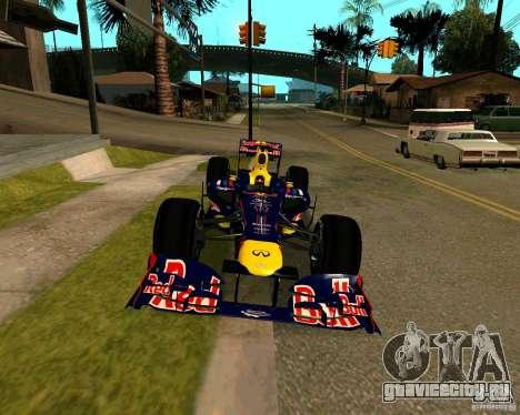 Red Bull RB8 F1 2012 для GTA San Andreas вид справа