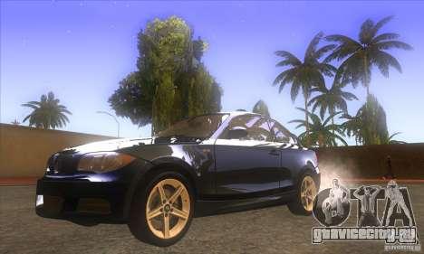 BMW 135i (E82) для GTA San Andreas вид сзади