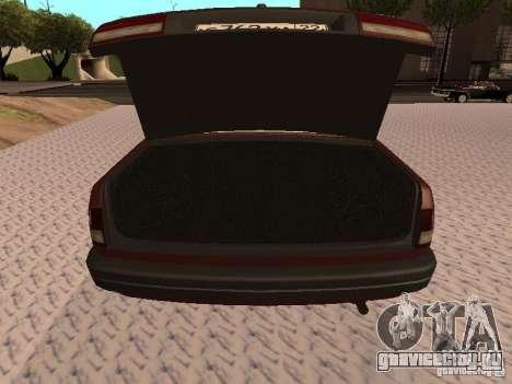 ГАЗ 3110 ВОЛГА v1.0 для GTA San Andreas вид изнутри