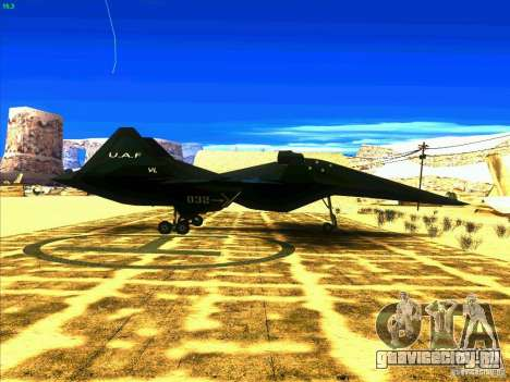 ADF-01 Falken для GTA San Andreas вид справа