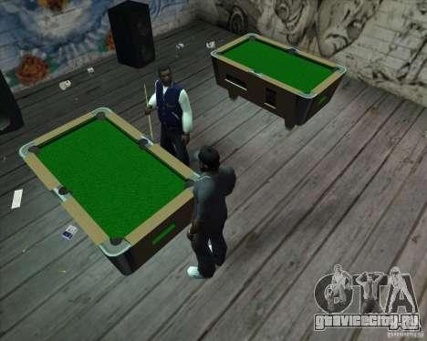 Новый бильярдный стол для GTA San Andreas второй скриншот