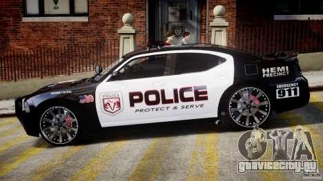 Dodge Charger NYPD Police v1.3 для GTA 4 вид сзади слева