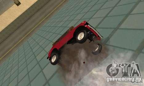 ВАЗ 2121 Нива для GTA San Andreas вид изнутри