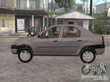 Dacia Logan 1.6 для GTA San Andreas вид сзади слева