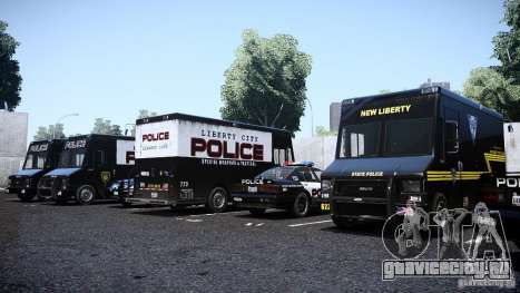 Boxville Police для GTA 4 вид справа