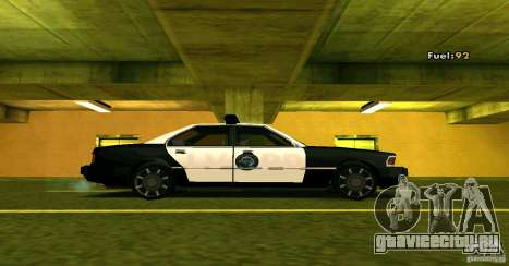 Sentinel Police LV для GTA San Andreas вид сзади слева