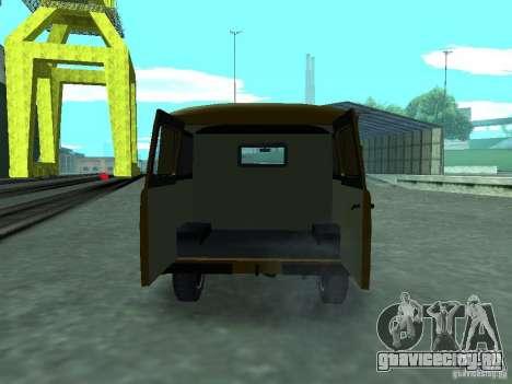УАЗ 3909 для GTA San Andreas вид изнутри