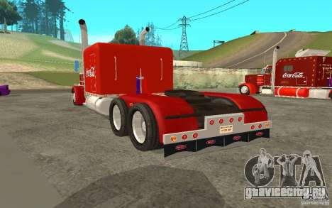 Peterbilt 379 Custom Coca Cola для GTA San Andreas вид сзади слева