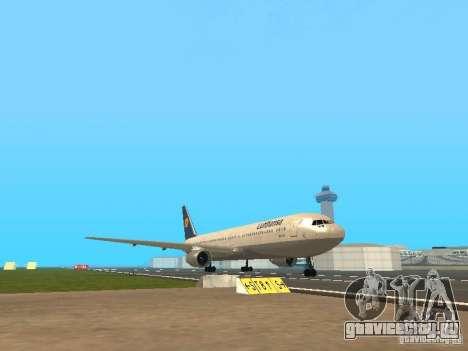 Boeing 767-300 Lufthansa для GTA San Andreas вид слева