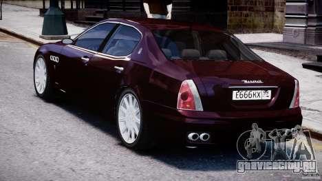 Maserati Quattroporte V для GTA 4 вид справа