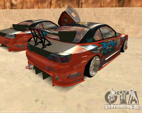 Nissan Silvia S15 Ms Sports для GTA San Andreas вид сзади слева