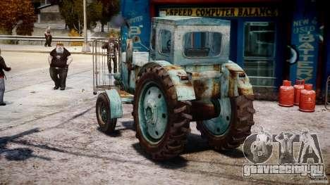 Трактор T-40M для GTA 4 вид сзади слева