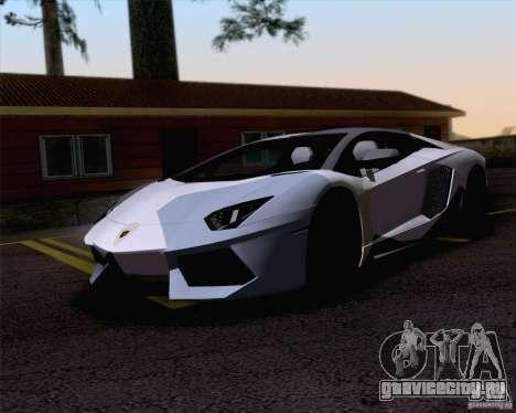 Покрасочные работы Lamborghini Aventador LP700-4 для GTA San Andreas вид слева