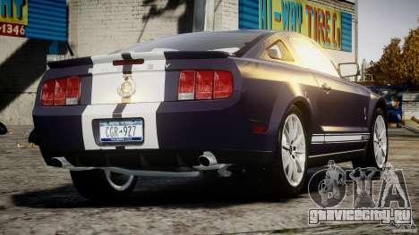 Shelby GT500KR 2008 для GTA 4 вид сзади слева