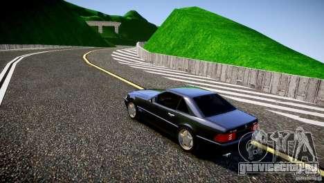 Mercedes SL 500 AMG 1995 для GTA 4 вид сзади слева